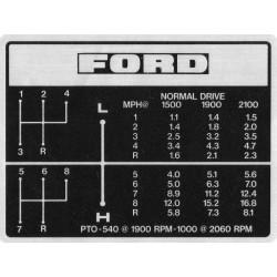 autocolant tableau vitesse ford
