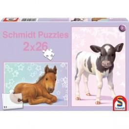 puzzles Poulain et veau