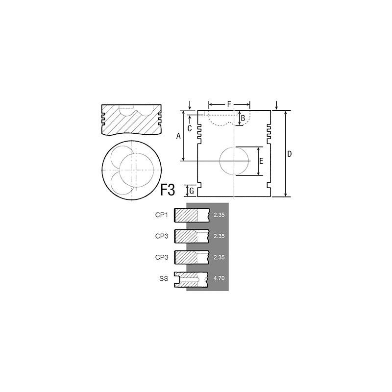piston segment tracteur david brown