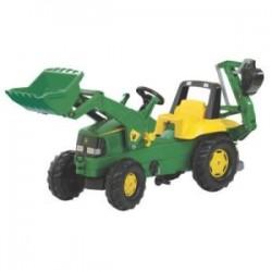 Tracteur pédale John Deere avec chargeur et pelle arrière