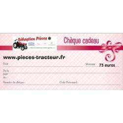 Chèque cadeau valeur de 75 euros