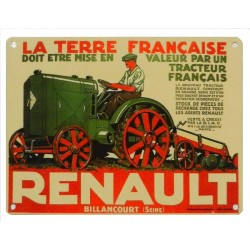 PLAQUE METAL RENAULT