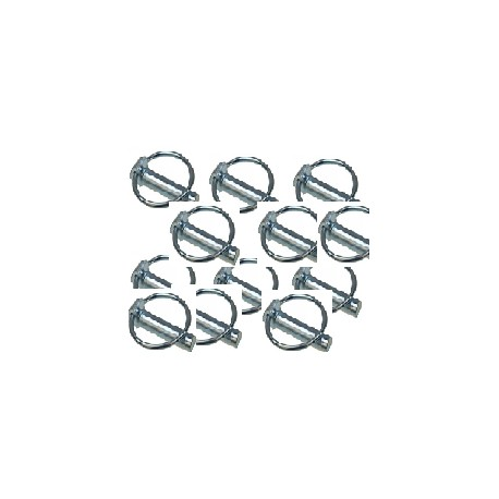 goupille clips diamètre 10 mm longueur 45 mm