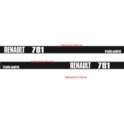 Kit autocollant tracteur Renault 781