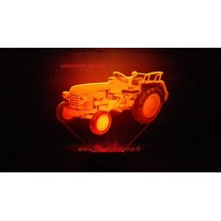 Lamp LED 3D tracteur Style Renault