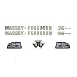 kit autocolant tracteur massey ferguson 35